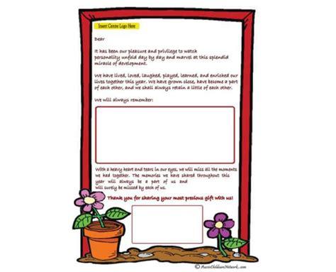 Parent Letter Aussie Childcare Network Child Portfolio Templates