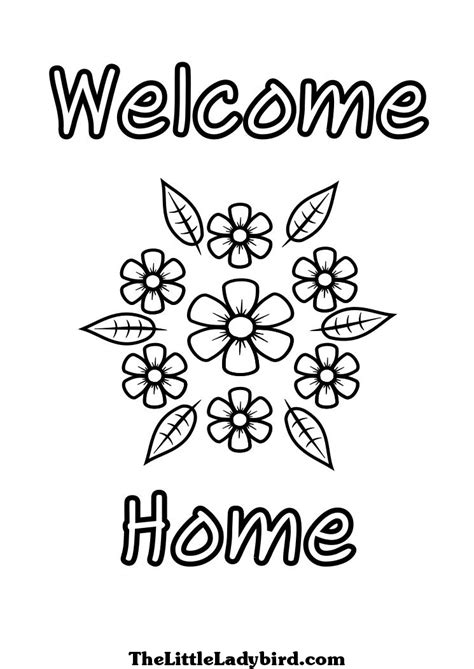 welcome coloring pages printable welcome best free