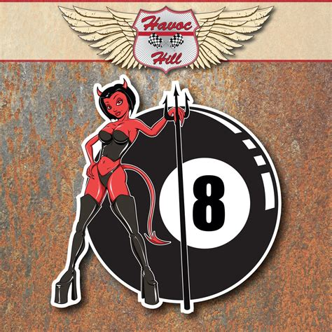Vintage Auto Decals by 8 Ball Demon Devil Hot Rod Stickers Vintage Motorcycle