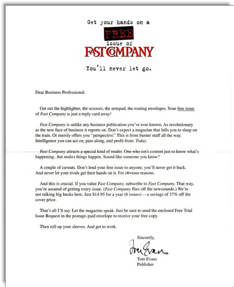 Letter To Company Sle Sales Letter Copywriter Jerry Mctigue