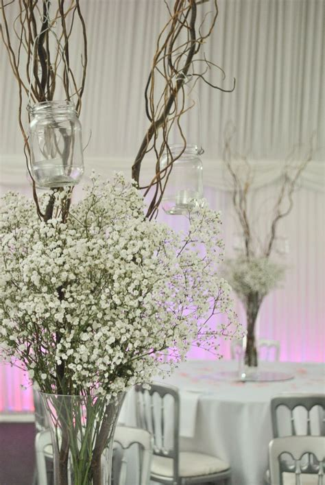 Tall Vases With Baby S Breath Google Search Centre De Decorative Branches For Wedding Centerpieces
