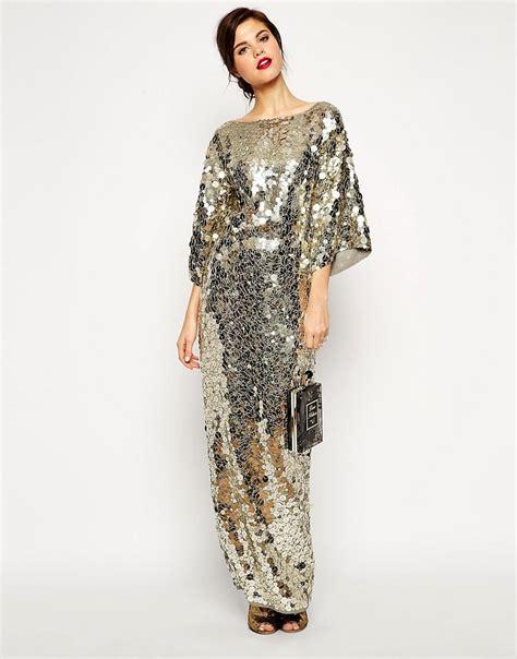 Dress Premium 2warna Silvergold asos asos carpet premium all sequin kimono maxi