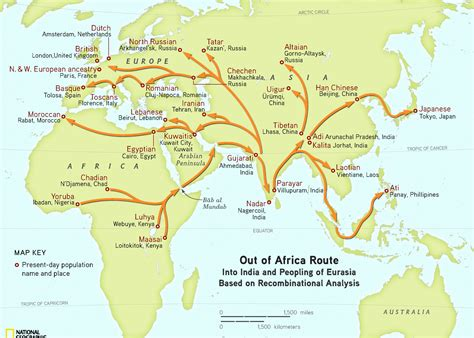 Map Out A Route by Human Migration Ramani S Blog