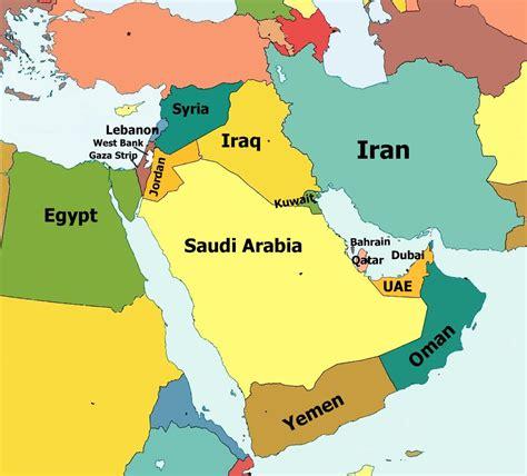 syria middle east map lebanon syria iraq oman qatar bahrain dubai