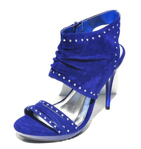 royal blue high heel sandals qupid royal blue velvet womens high heel slingback