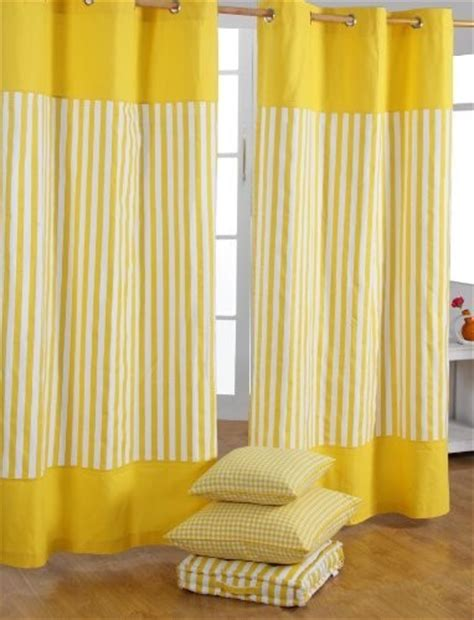modern yellow curtains thick stripe yellow ready made curtain modern