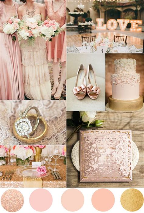 wedding themes rose gold top 7 amazing pink and gold wedding color palettes gold
