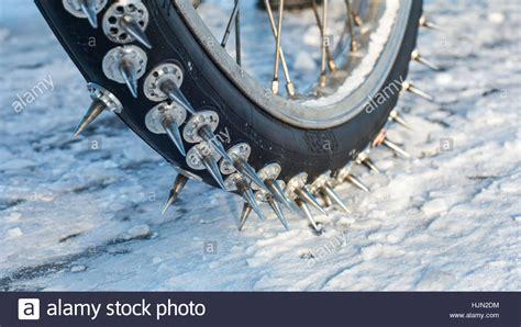 Motorrad Winter Luftdruck by Spikes Of An Ice Speedway Motorbike Stock Photo Royalty
