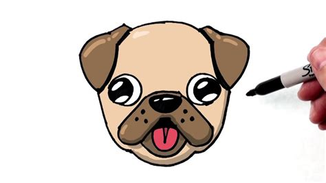 how to draw pugs step by step how to draw a emoji pug for beginners step by