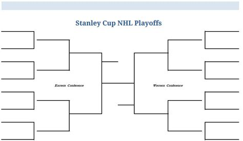 printable blank pdf nhl hockey playoffs stanley cup