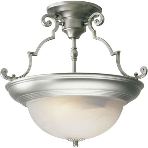Semi Flush Mount Ceiling Light Brushed Nickel Talista Burton 2 Light Brushed Nickel Incandescent Ceiling Semi Flush Mount Cli Frt2298 02 55