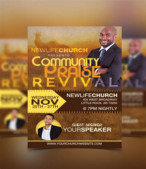 church revival flyer template free church flyers archives flyerthemes