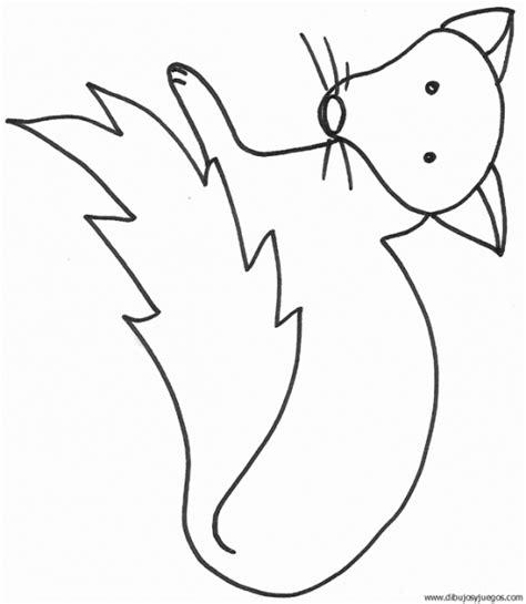 imagenes para dibujar de zorros dibujo de zorro 036 dibujos y juegos para pintar y colorear