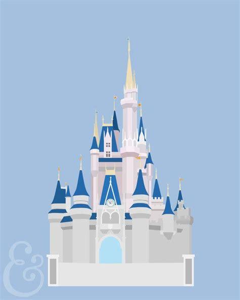 cinderella s castle minimalist poster paper cinderella