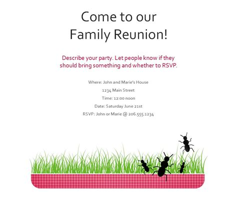 family flyer template family reunion flyer family reunion flyer template