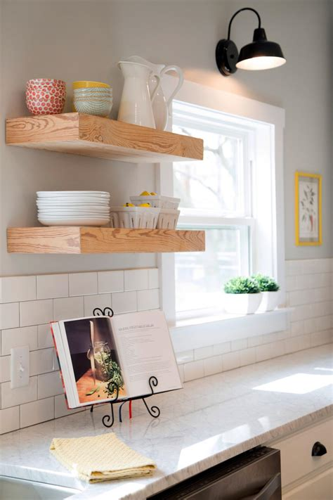 modern floating shelves for kitchen diy 15 away