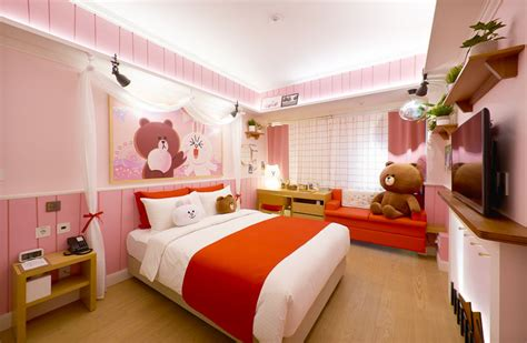 theme hotel room korea check out these line friends themed rooms at golden tulip