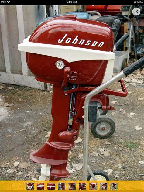 vintage boat values johnson outboard motor 1957 7 5 hp boat motors