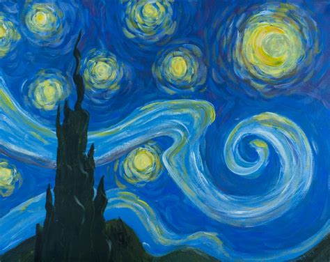 Starry Nite Painting Gogh Style Aug 24