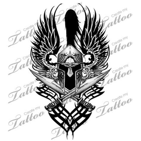 marketplace tattoo tribal spartan armour 3169