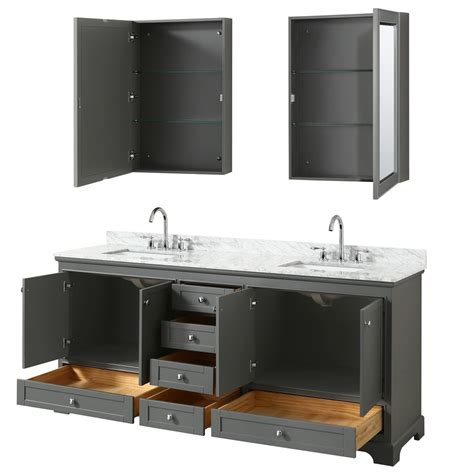 80 Inch Bathroom Vanity 80 Inch Sink Transitional Grey Finish Bathroom Vanity Set
