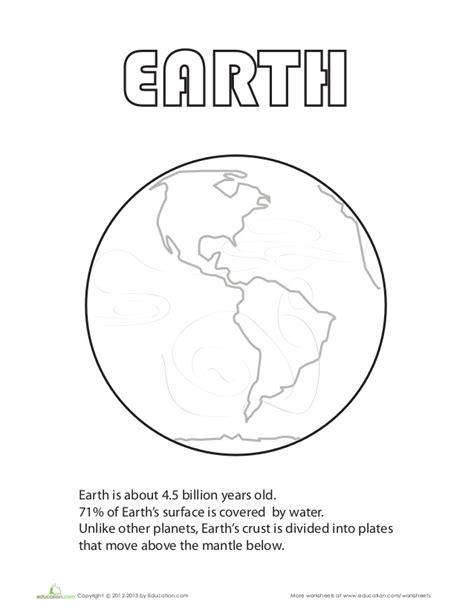 coloring page earth s plates earth coloring page
