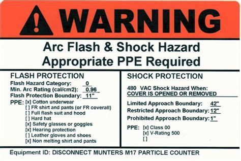 Pacific Quality Controls Inc Services Arc Flash Label Template