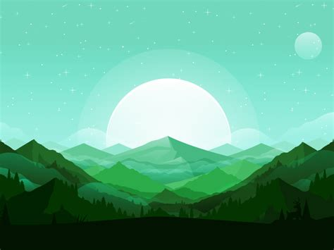 background flat design mountains mountains illustrations and landscaping