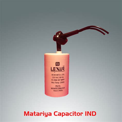 motor start capacitor buy buy 40 60 mfd 230v motor start capacitor from lexur capacitor ind surat id 491058