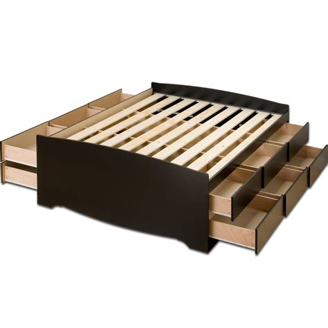 storage platform bed double platform storage bed tall in beds and headboards