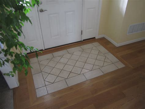 Front Entrance Tile Ideas Tile Rug Entry South House Designs