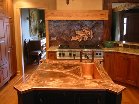 Copper Kitchen Backsplash Ideas Chicago Driveway Gates Custom Metal Fabrication Copper