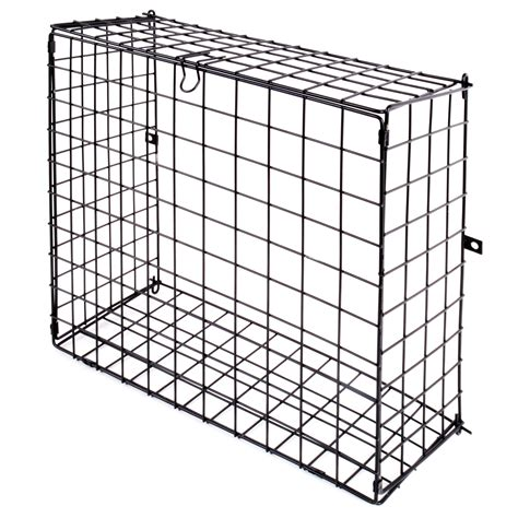 metal cage letterbox cage door mounted mail box letter guard basket post catcher black ebay