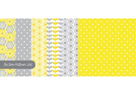yellow pattern vector yellow gray pattern vector set download free vector