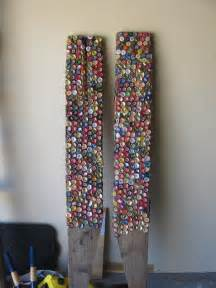 Beer cap art i remember my 5th grade teacher had a stick with bottle