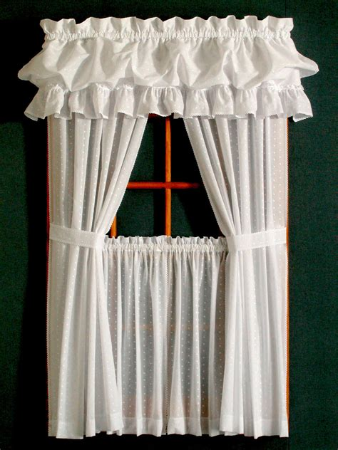 Dotted Swiss Curtains Dotted Swiss Tier Curtain Pair