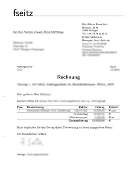 Formeller Briefvorlage frank seitz developer logbuch