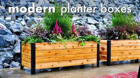 diy modern raised planter box   build