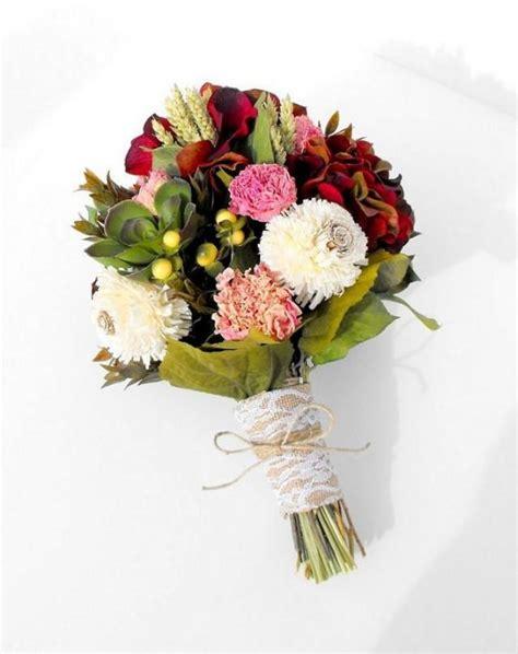 Silk Flowers Wedding Bouquet by Dried Flower Bouquet Silk Flower Wedding Bouquet Bridal
