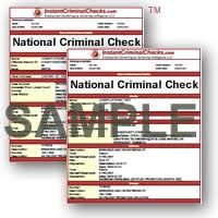National Criminal Record View All Criminal Background Check Sle Reports