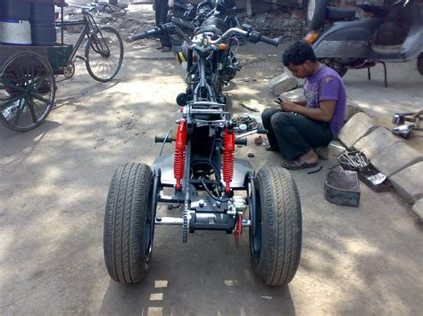 Modification Bikes In India by Bike Modifications In India Pulsar Trike For Physically