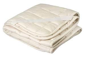 crib mattress pad greenbuds organic cotton wool quilted