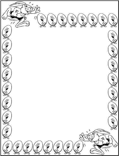 7 best images of border coloring pages printable fancy