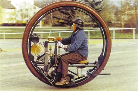 Sachs Einrad Motorrad by Century Old Edison Puton Monowheel At The Cholmondeley