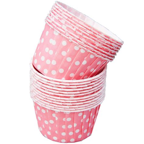 Lolla Cup Pink pink and white polka dot small paper squeeze cups set of