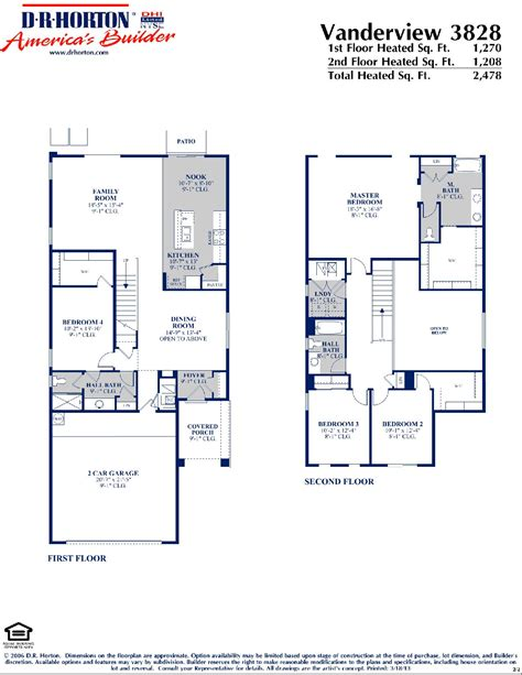 dr horton home floor plans dr horton vanderview floor plan