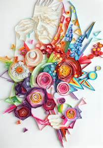 Yulia Brodskaya Vibrant Quilled Paper Illustrations And Sculptures By