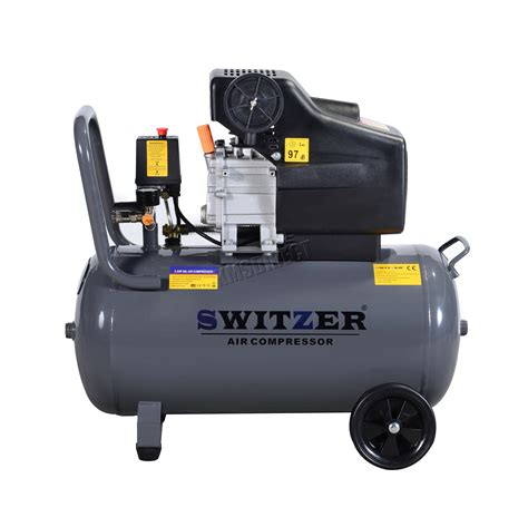 switzer air compressor 50l litre 2 5hp 8 bar 230v 9 6cfm with wheel ac001 grey ebay