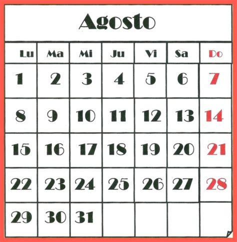 mes de agosto 2016 im 225 genes de calendarios infantiles de agosto 2016 para