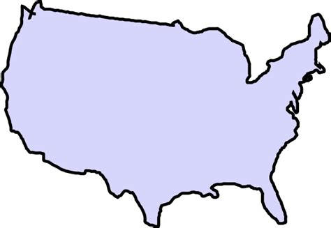 us map outline clip map outline of us clipart best